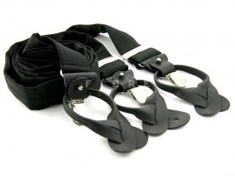 Suspender 100% Silk - Black