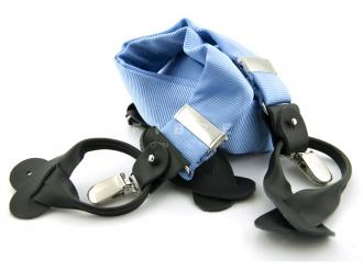 Suspender 100% Silk - Light Blue