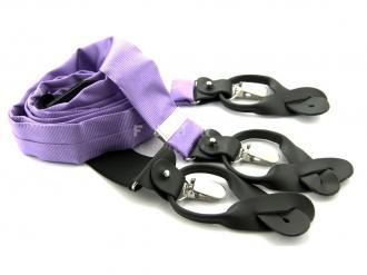 Suspender 100% Silk - Lilac