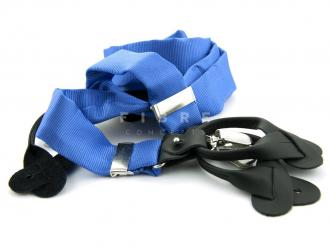 Suspender 100% Silk - Middle Blue