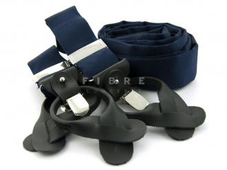 Suspender 100% Silk - Navy