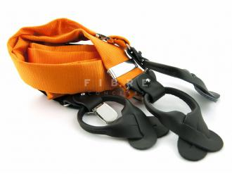 Suspender 100% Silk - Orange