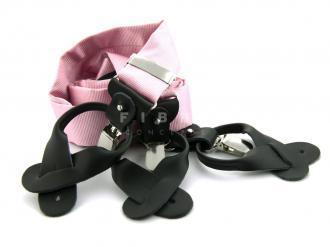 Suspender 100% Silk - Pink