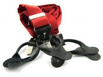 Suspender  100% Silk - Red