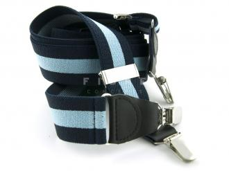 Suspender Elastic - Stripe Navy/Lt.Blue