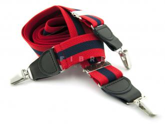 Suspender Elastic -  Stripe Red/Navy