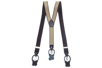 Bretels Elastiek Luxury 38 - dots bruin/camel