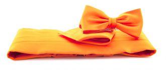Cumberbandset poly. satijn (UITLOPEND) 999 Oranje
