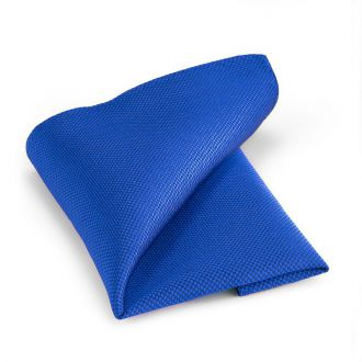 Pochet zijde NOS 14 - Kobalt