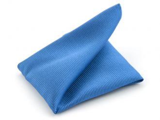 Pochet zijde NOS 32 - Blauw