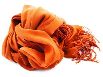 Shawl Katoen/Zijde NOS 01 - Oranje 50x180cm