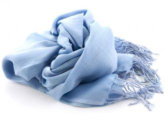 Shawl Katoen/Zijde NOS 02 - Licht blauw 50x180cm