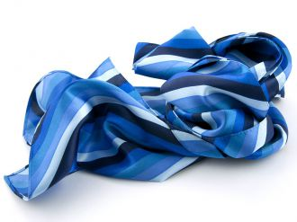 Shawl multicolour polyester-satijn