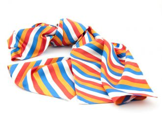 Shawl multicolour polyester-satijn