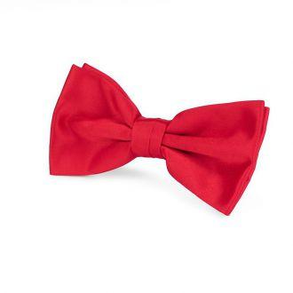Strik polyester-satijn NOS 913 Midden Rood