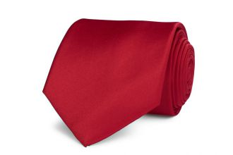 Stropdas polyester-satijn NOS 913 Midden Rood