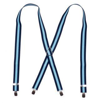 Bretels Elastiek 31 - streep marine/lichtblauw