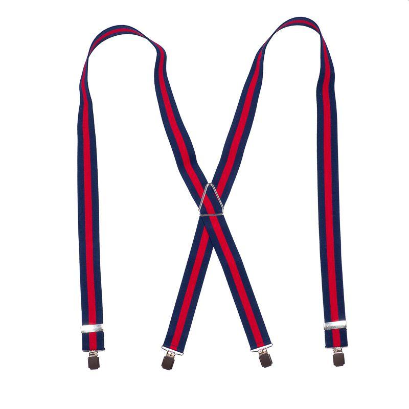 bretels elastiek 34 streep marinerood