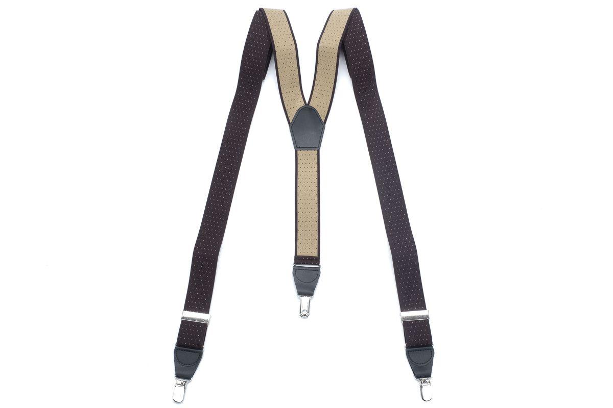 bretels elastiek 38 dots bruincamel
