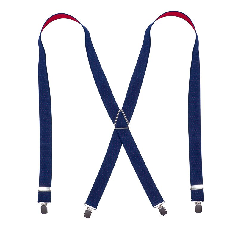 bretels elastiek 41 dots marinerood