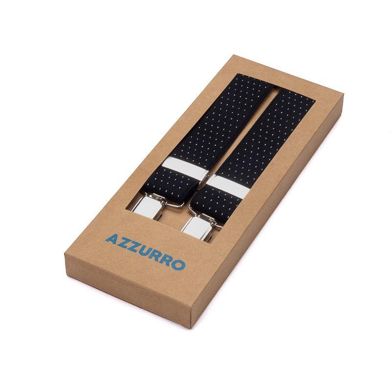 bretels elastiek 45 dots zwartwit