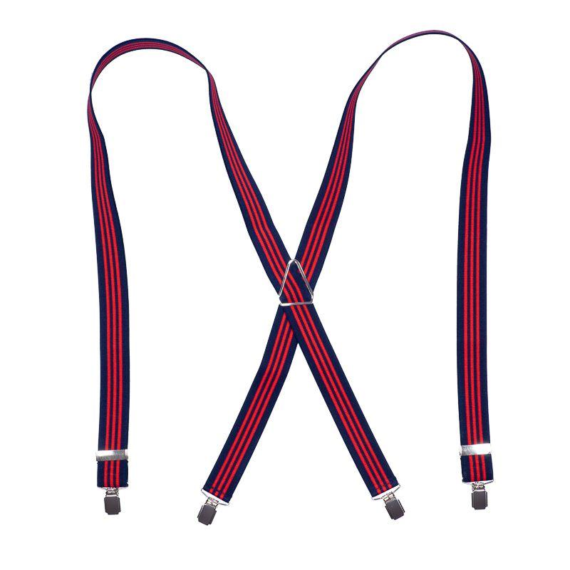bretels elastiek 51 streep marinerood