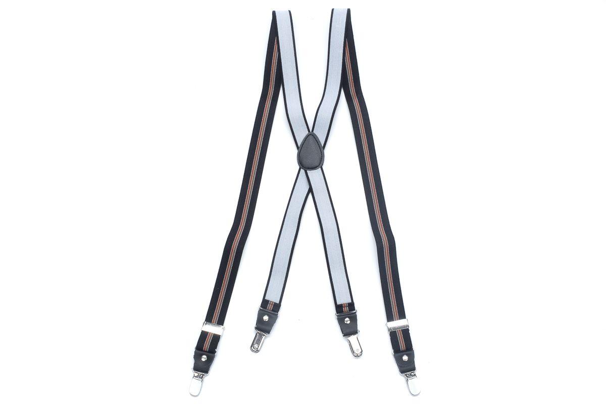 bretels elastiek 63 zwartbruin