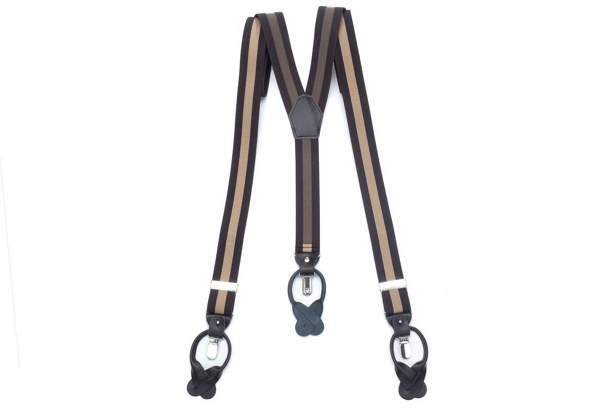 bretels elastiek luxury 29 streep bruincamel