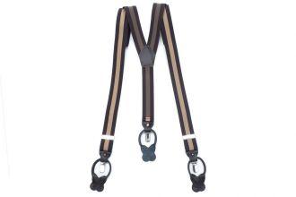 Bretels Elastiek Luxury 29 - streep bruin/camel