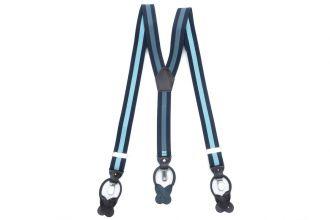 Bretels Elastiek Luxury 31 - streep marine/lichtblauw