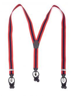 Bretels Elastiek Luxury 33 - streep rood/marine