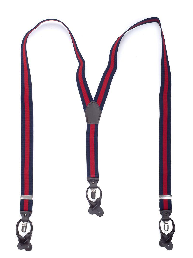 bretels elastiek luxury 34 streep marinerood