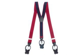 Bretels Elastiek Luxury 40 - dots rood/marine