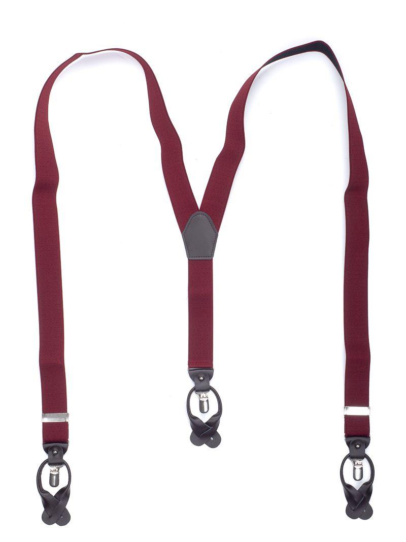 bretels elastiek luxury 43 dots bordeauxzwart