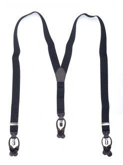 Bretels Elastiek Luxury 45 - dots zwart/wit