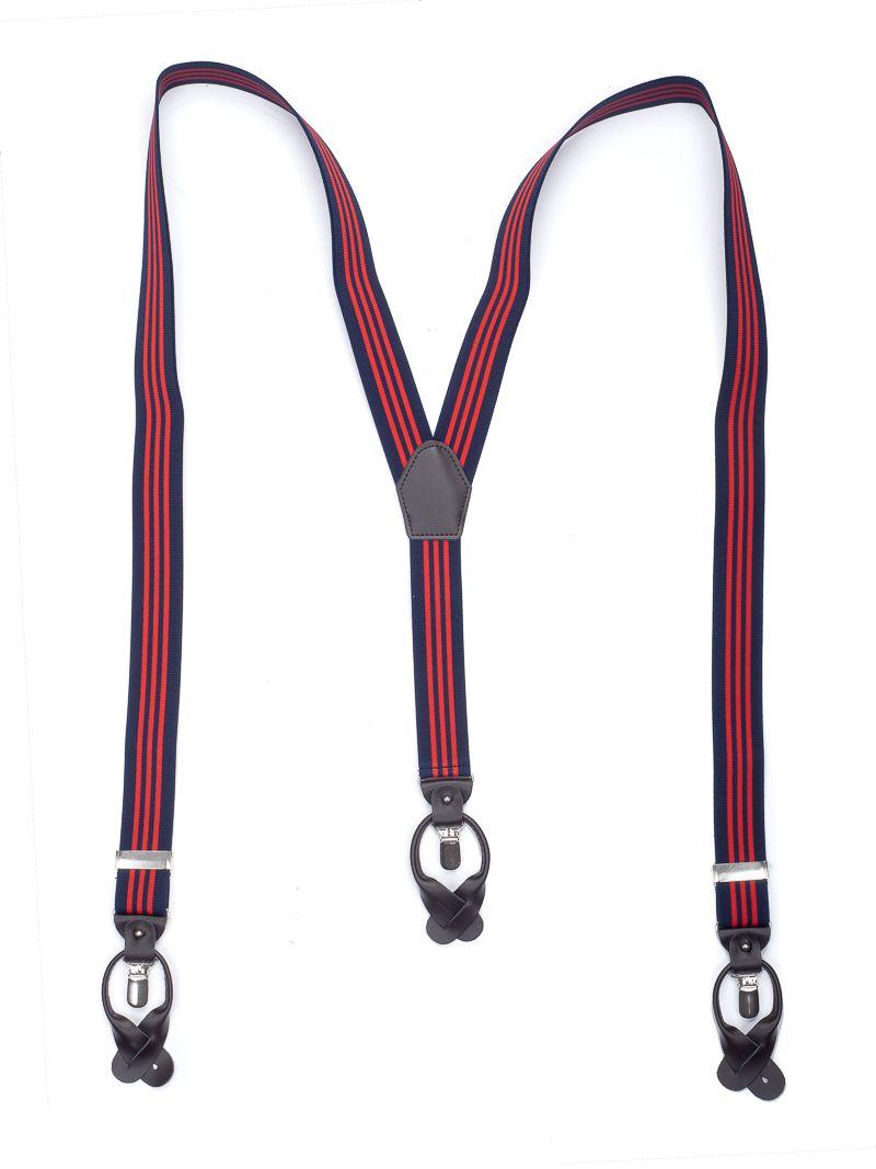 bretels elastiek luxury 51 streep marinerood