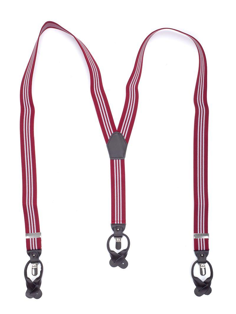 bretels elastiek luxury 58 streep bordeauxwit