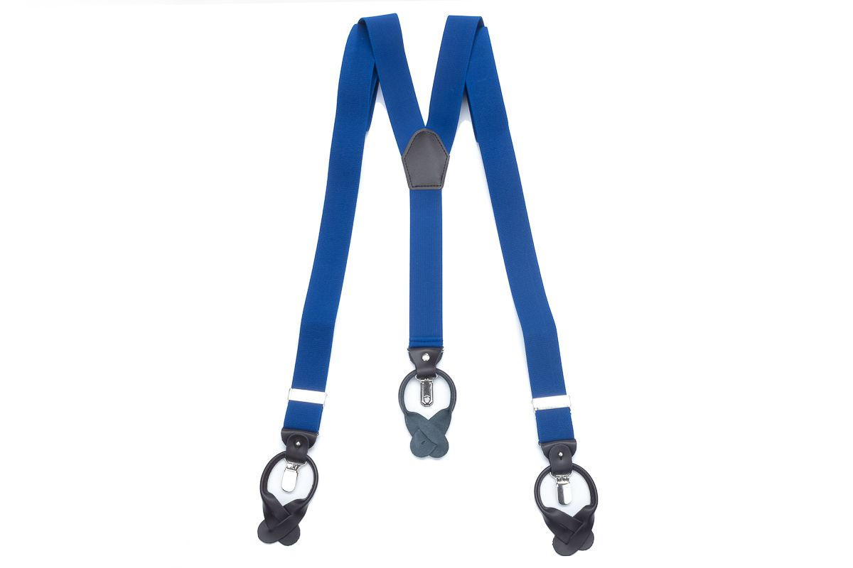 bretels elastiek luxury 70 kobalt