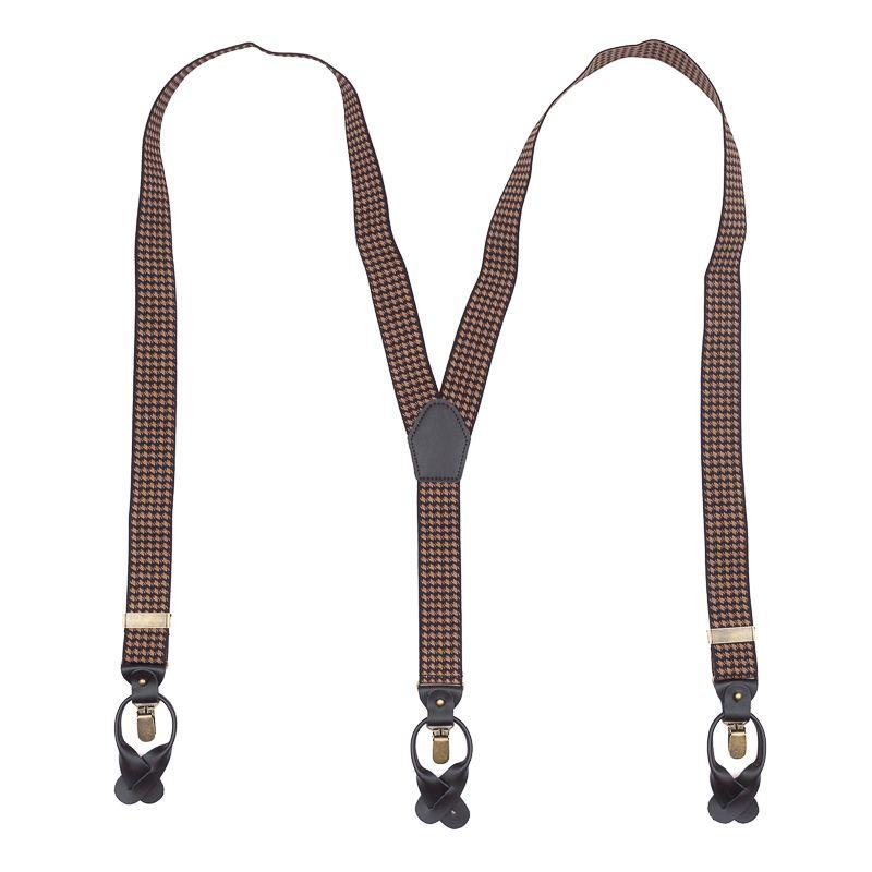 bretels elastiek luxury bruinkhaki