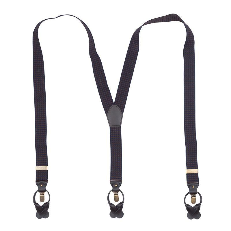 bretels elastiek luxury navybruin