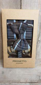 Combi pack bow tie + suspender