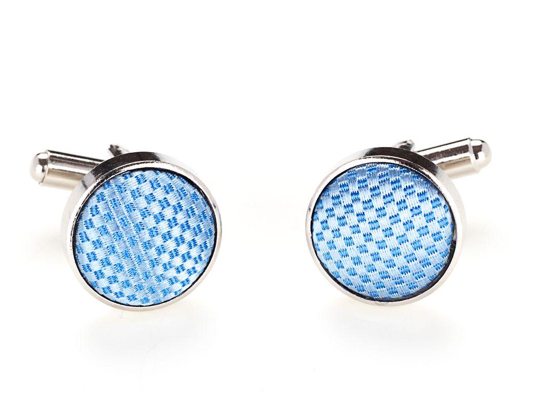 manchetknopen zijde nos 1 lichtblauw