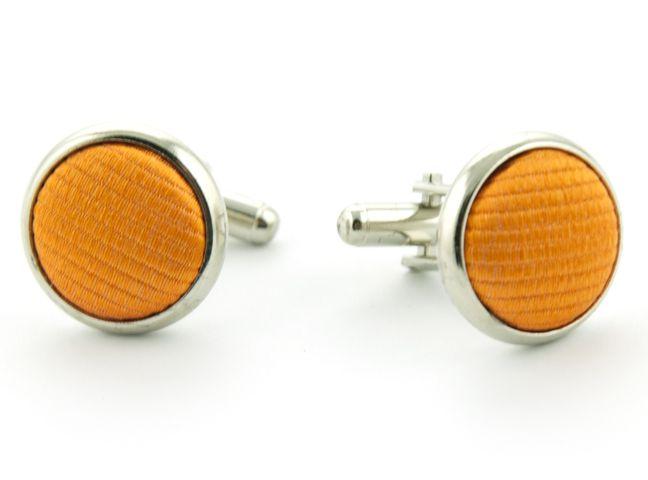 manchetknopen zijde nos 1 oranje