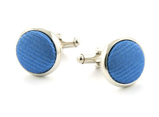 manchetknopen zijde 19 blauw