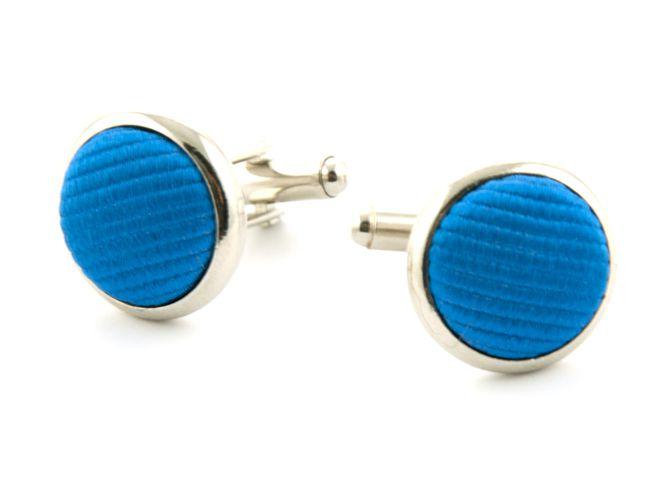 manchetknopen zijde nos 32 blauw