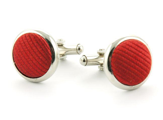 manchetknopen zijde nos 34 rood