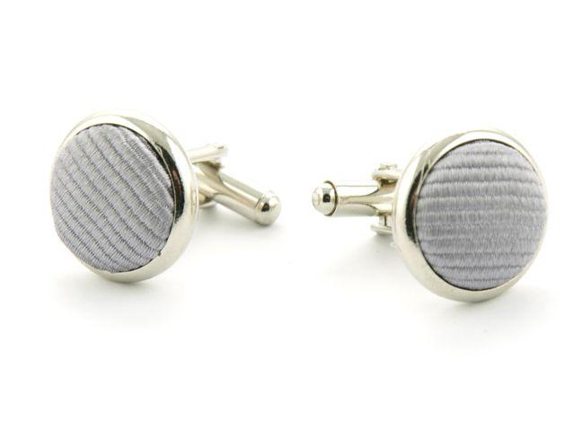 manchetknopen zijde nos 48 zilvergrijs