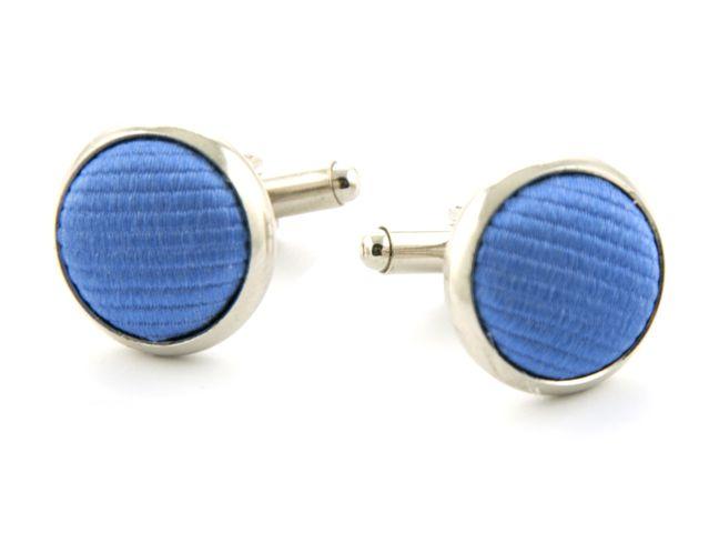 manchetknopen zijde nos 5 middenblauw