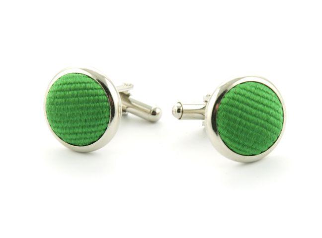 manchetknopen zijde nos 68 groen