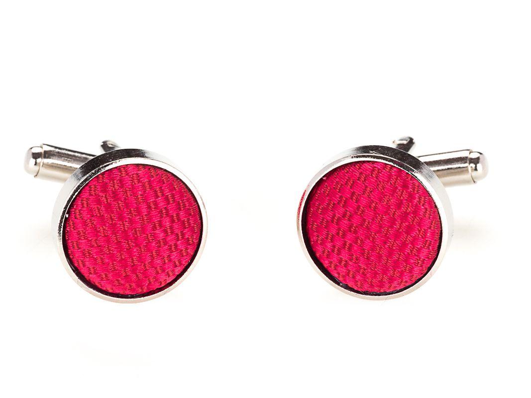 manchetknopen zijde nos 7 rood